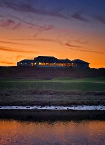 Clubhouse from 15th with sea
