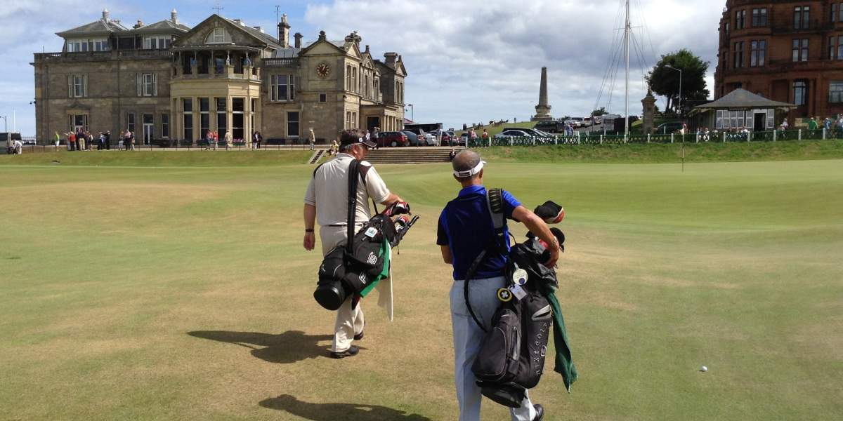 St Andrews Old Course Tee times Guaranteed - Trevor & Tony
