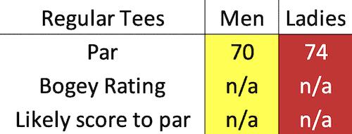 Downfield Golf Club bogey data